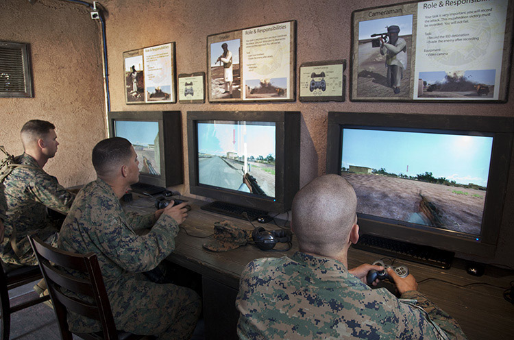 Soldiers use the Mobile Counter Interactive Trainer | Photo: USC Institute for Creative Technologies