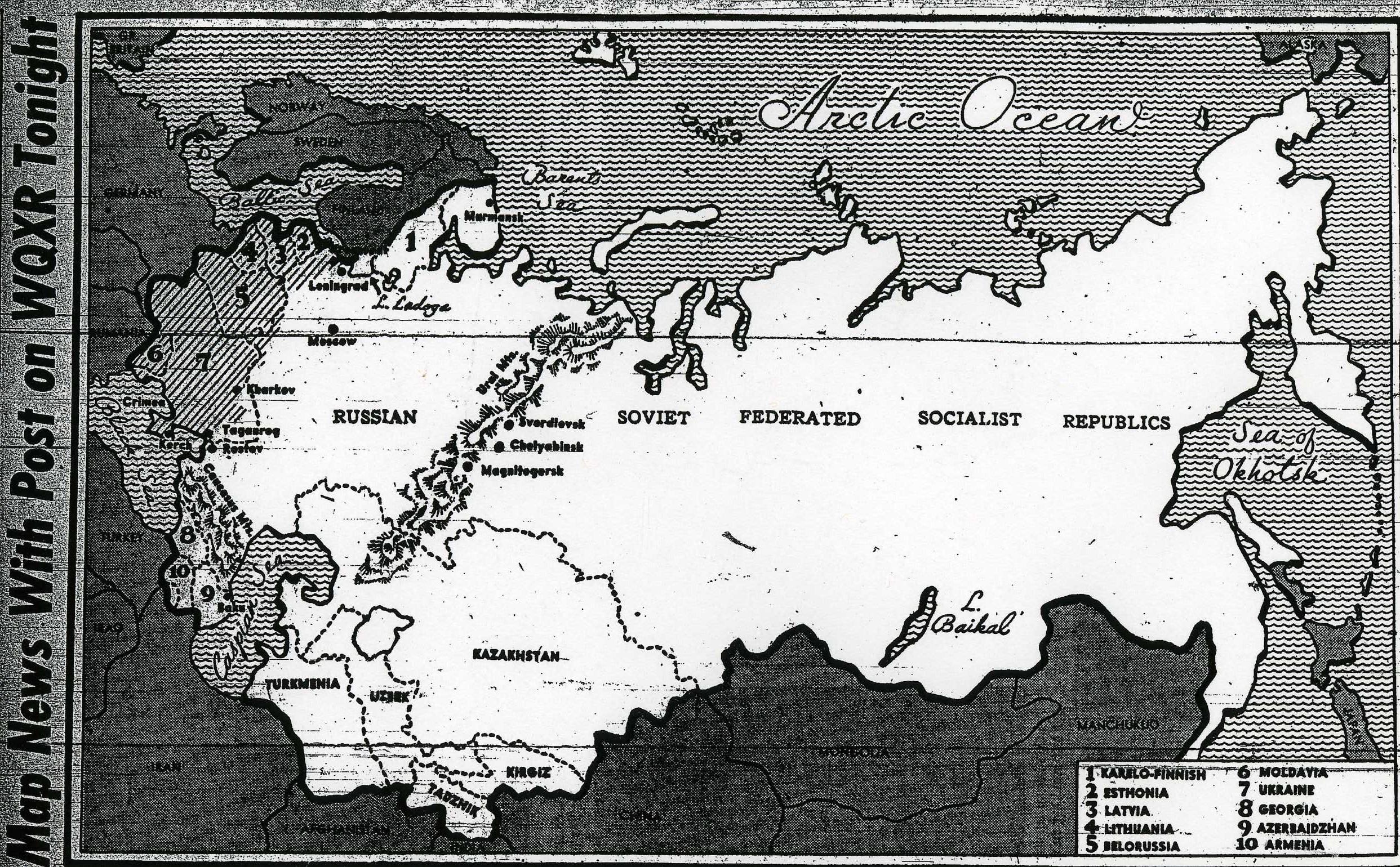 Figure 2 Map news 1942