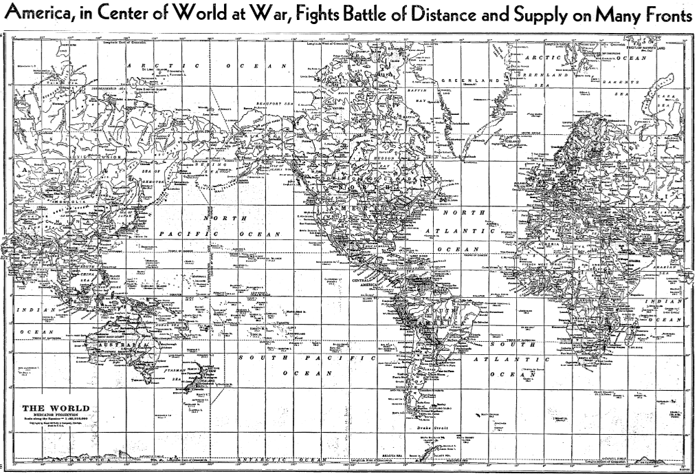 Figure 4 America in Center of World