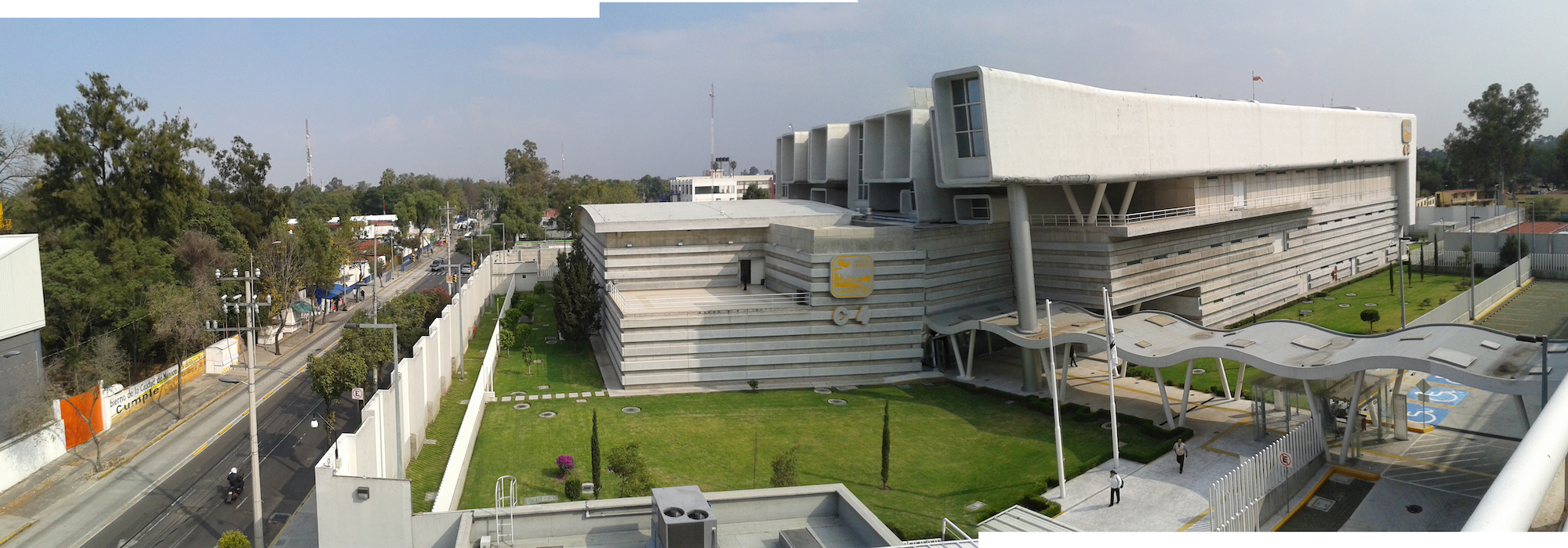 Fig. 3: Panoramic view of the C4i4 from the parking lot rooftop | photo by Paulina V. Pulido