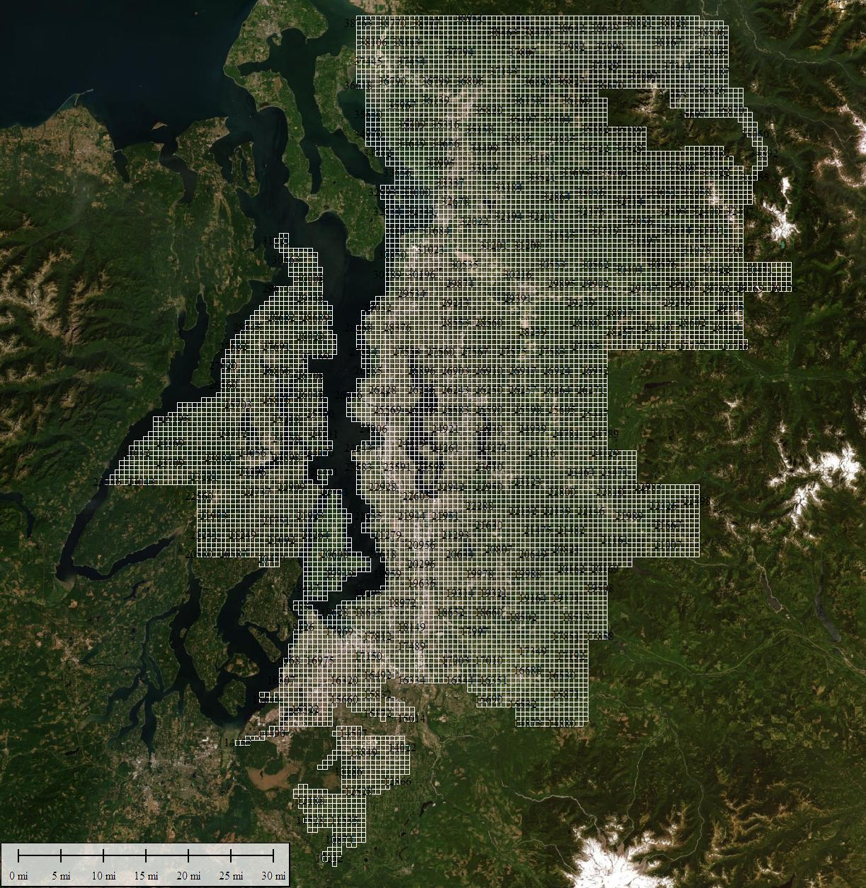 Tile Layout for 2015 King County Orthoimagery Program