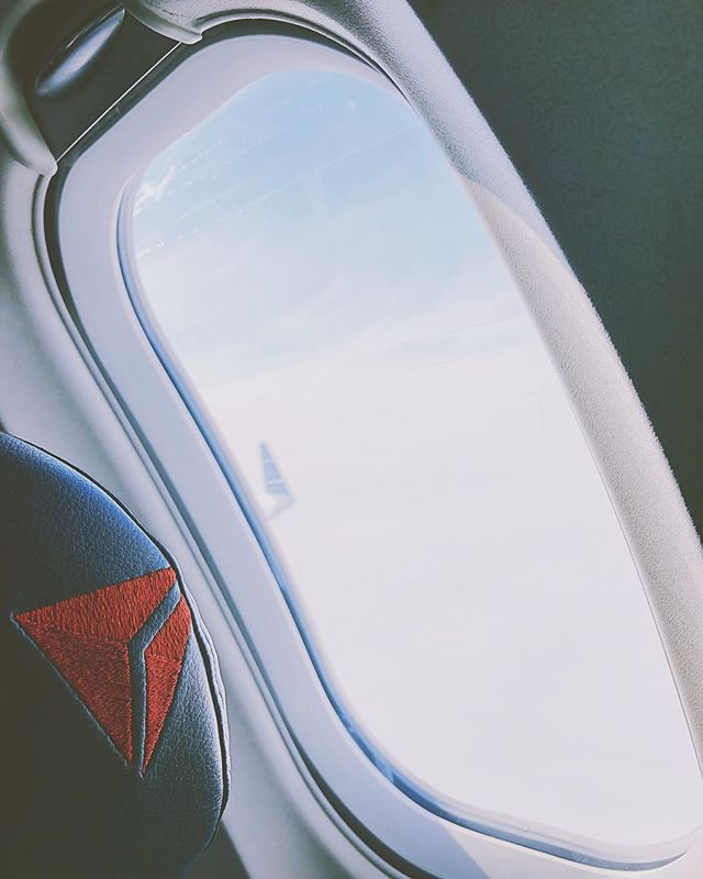 Took the month of January off from flying but back at it today. Off to Cape Cod for the weekend with @spiritwinterpercussion! || #FromThePlaneWindow x #SkyMilesLife
