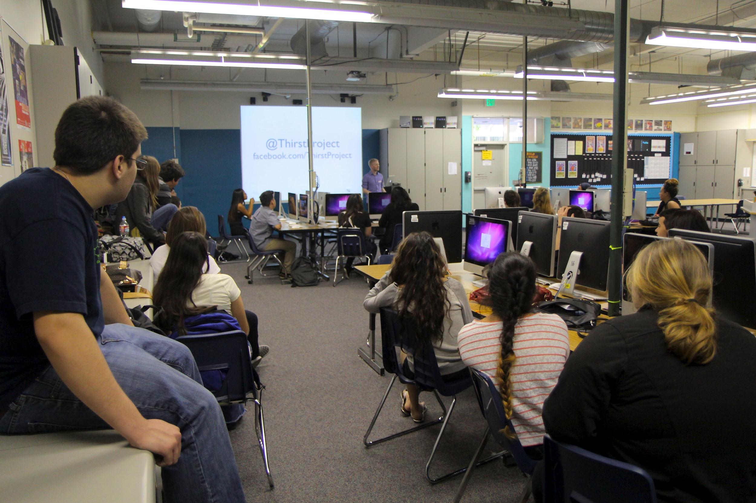 Seth Maxwell speaks to DATA juniors and seniors