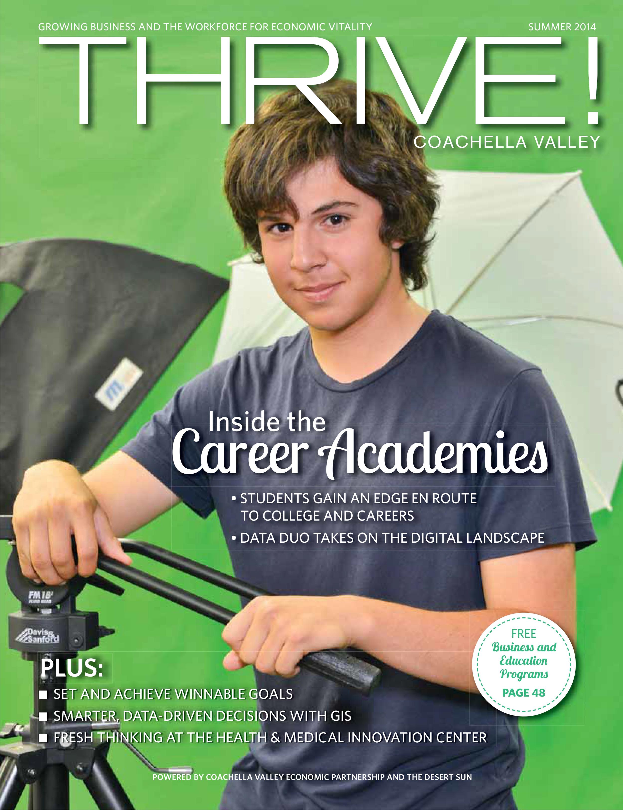 DATA graduate Anthony Ramirez on the cover of Thrive! Magazine