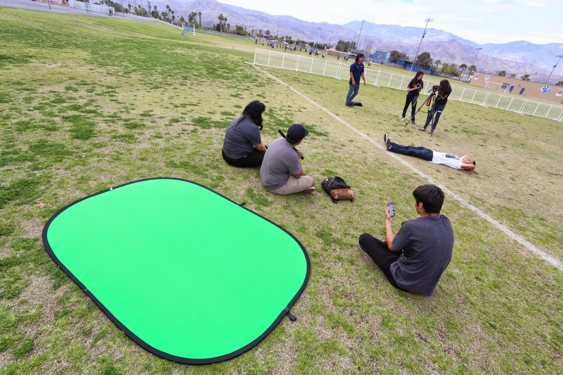"Students filming ""The Race"""