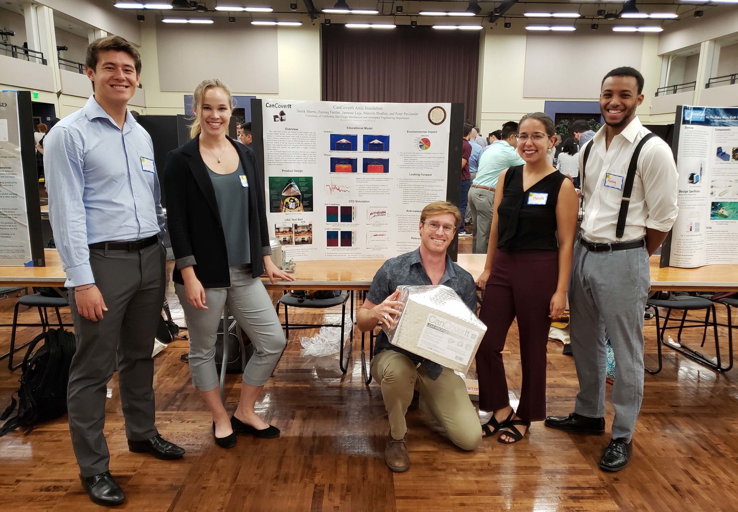 UCSD student team at final poster session