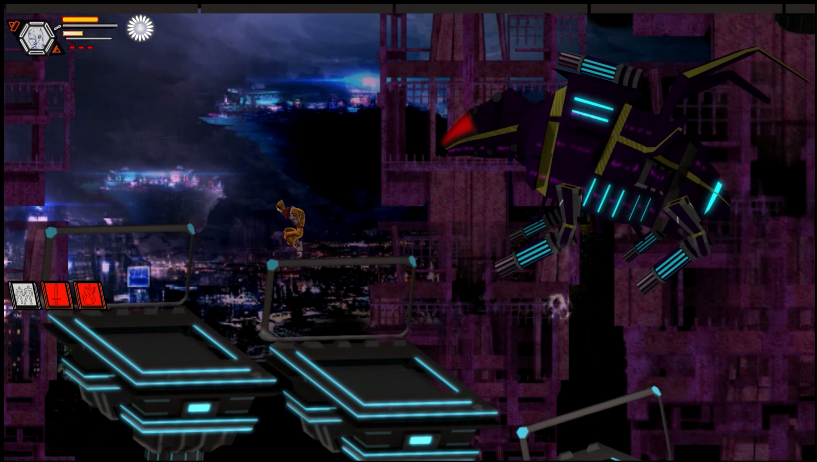 Screenshot of one of the boss battles.