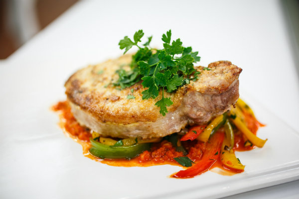 Almond Crusted Pork Chops