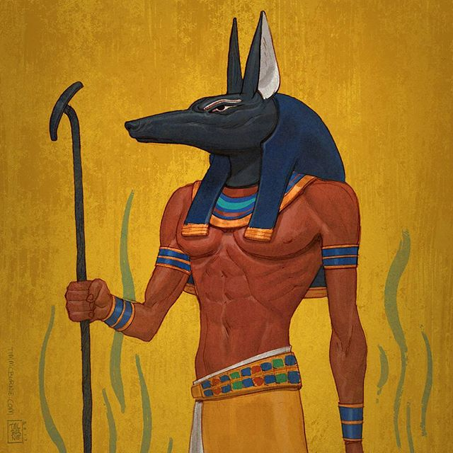 Still drawing gods. Pencil colored in Photoshop. #drawing #mythology #ancientegypt #anubis #godofdeath #fantasy