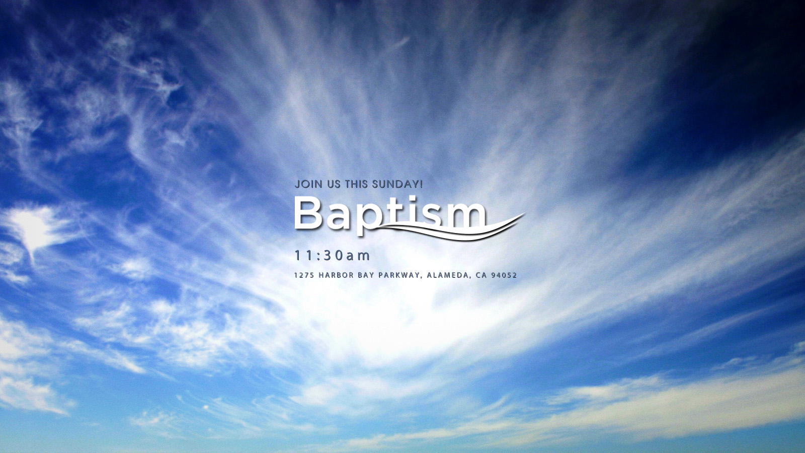 Join us as we celebrate the Baptism of our brothers and sisters and recount God's faithfulness in their lives.