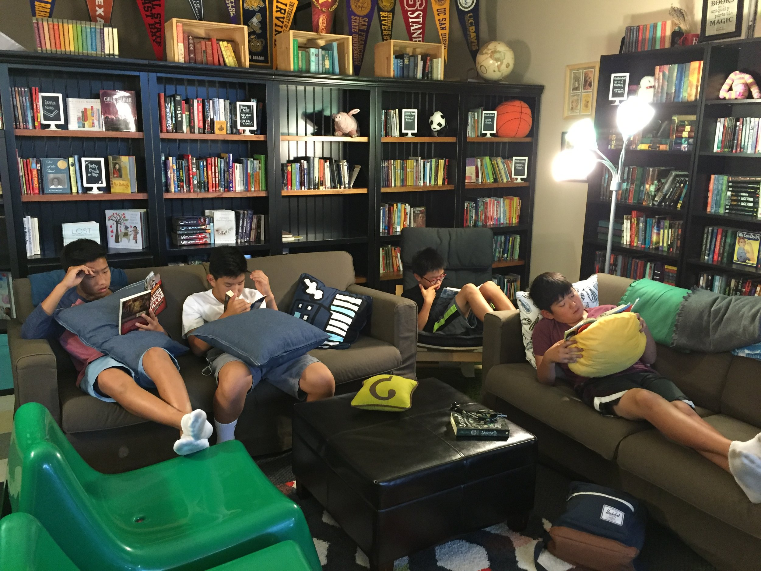 Emily recognized this as a truly extraordinary moment—middle school boys voluntarily reading!