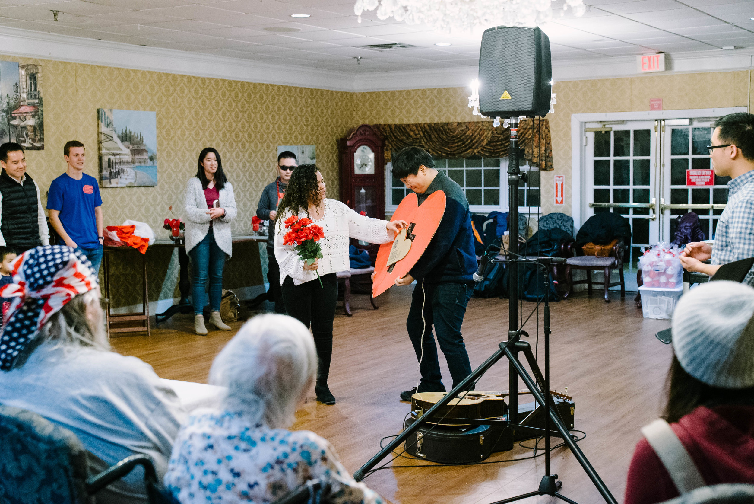 Students from our Rutgers ministry visited a convalescent home near campus and included a skit in their program.