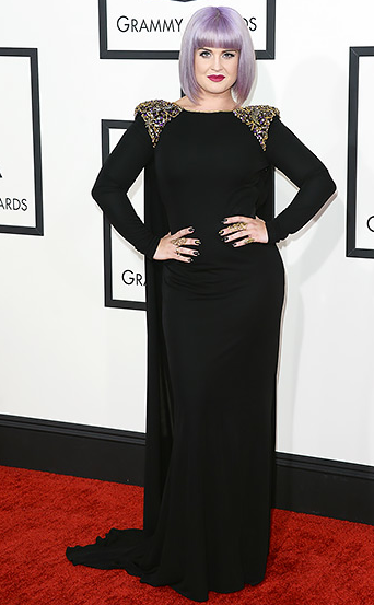 I absolutely love  Kelly Osbourne , who rocked her custom Badgley Mischka dress, along with her father Ozzy's cross necklace.