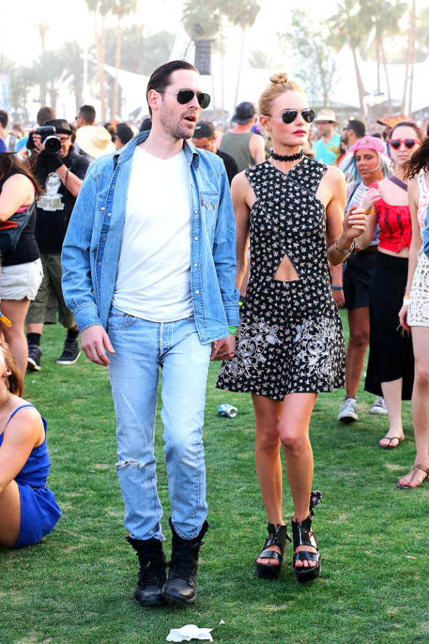Kate Bosworth and her hubby, looking sooo '90s, hit up the music scene.