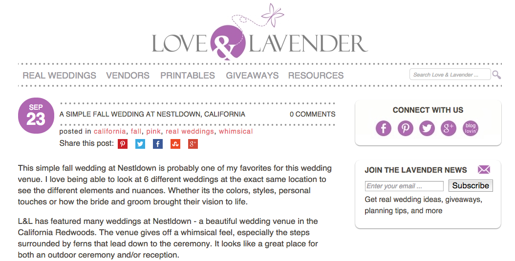 Published on Love and Lavender