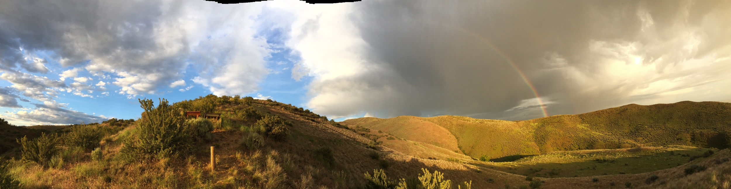 iPhone Panorama to show the crazy skies.