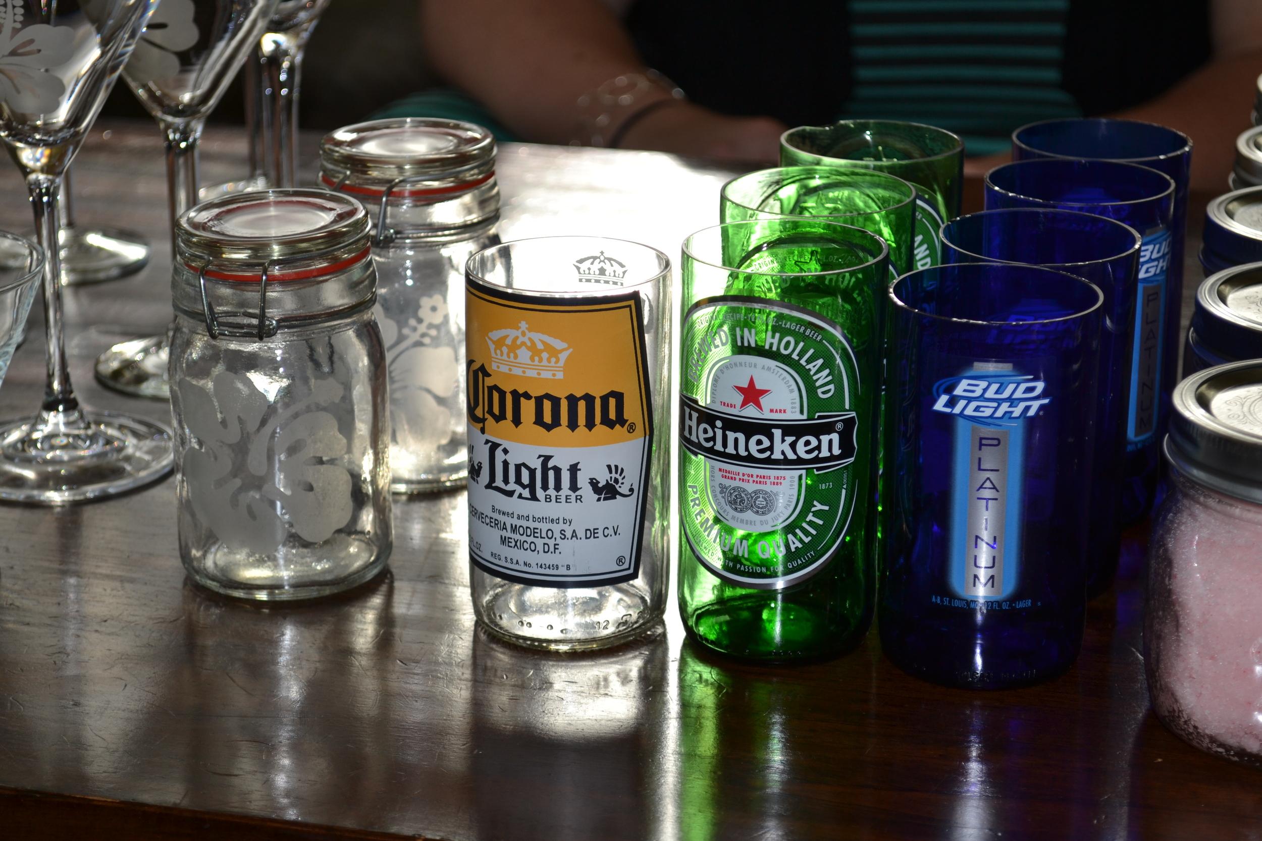 Upcycled Bottle Drinking Glasses.JPG
