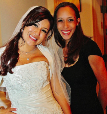 Ileen and one of her very happy brides. http://www.onceuponawedding.biz