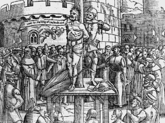 Unlike Shakespeare, Tyndale was strangled and burnt to death.