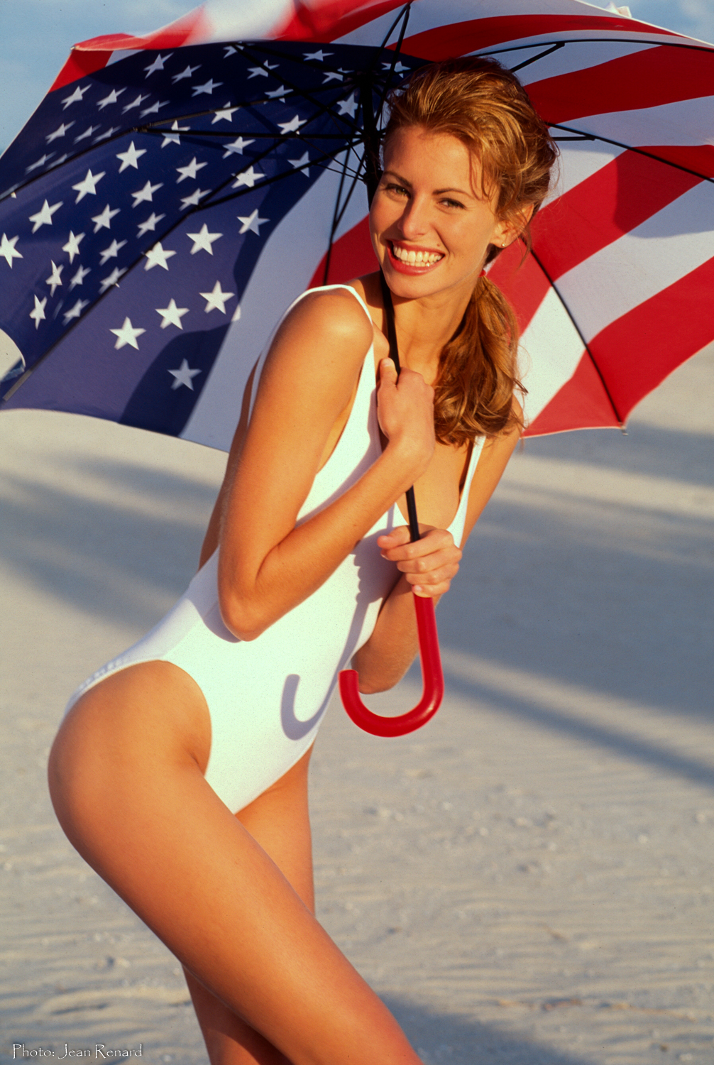 Ocean Drive/ Niki Taylor.  The wind was so strong the umbrella collapsed and flew away several times