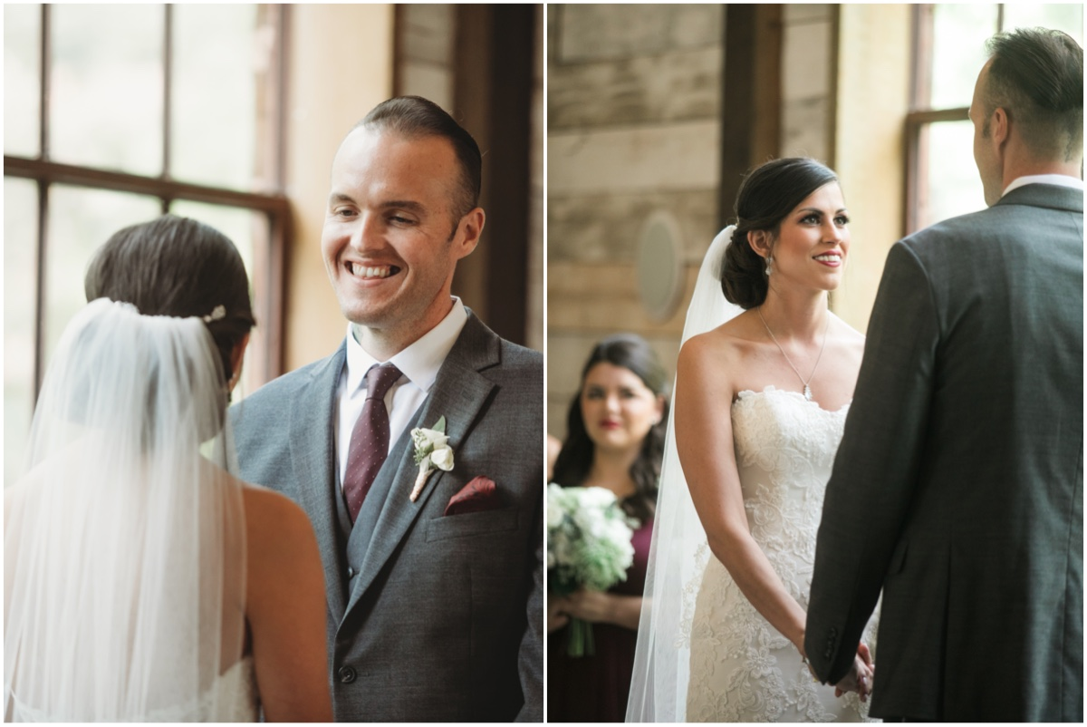 How every bride and groom should look at each other. Pure.