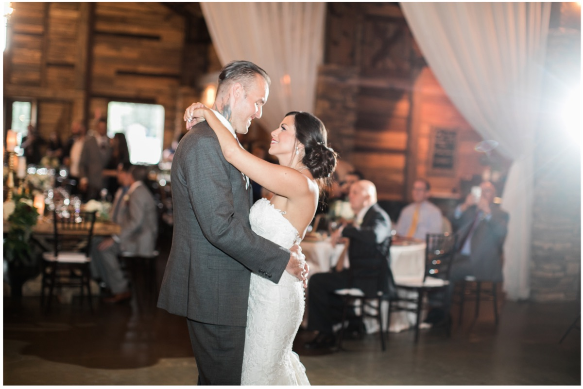First dance. I LOVE how they look at each other!