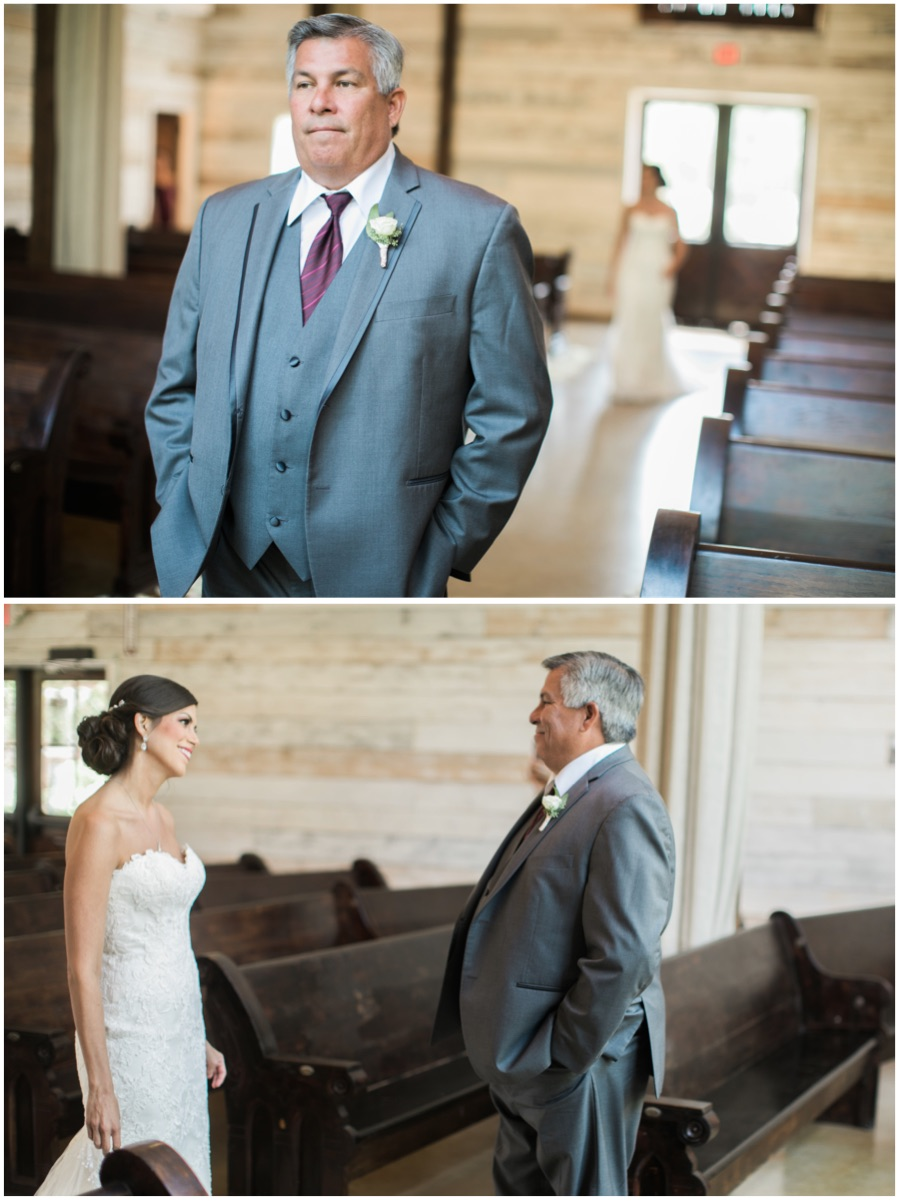 First look with her father