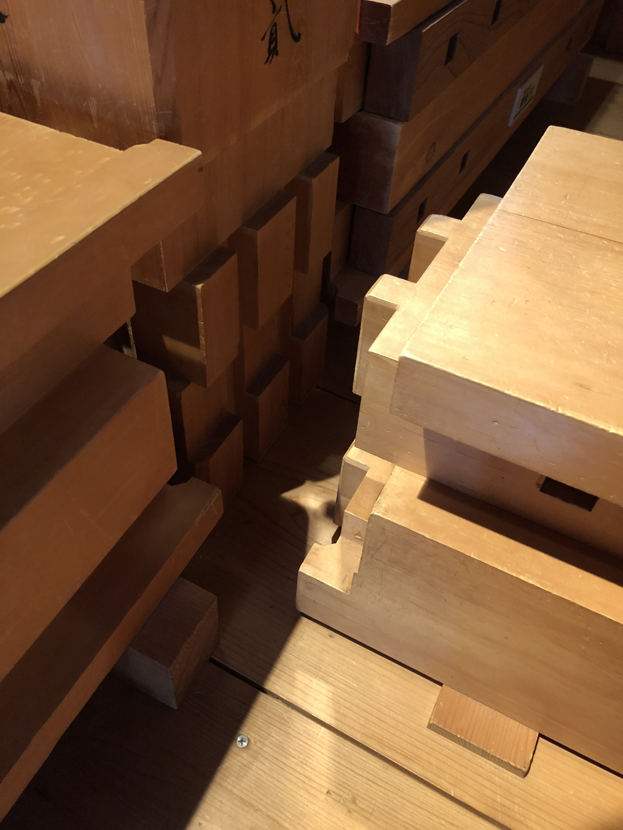 Complex traditional joinery in Kanazawa Castle