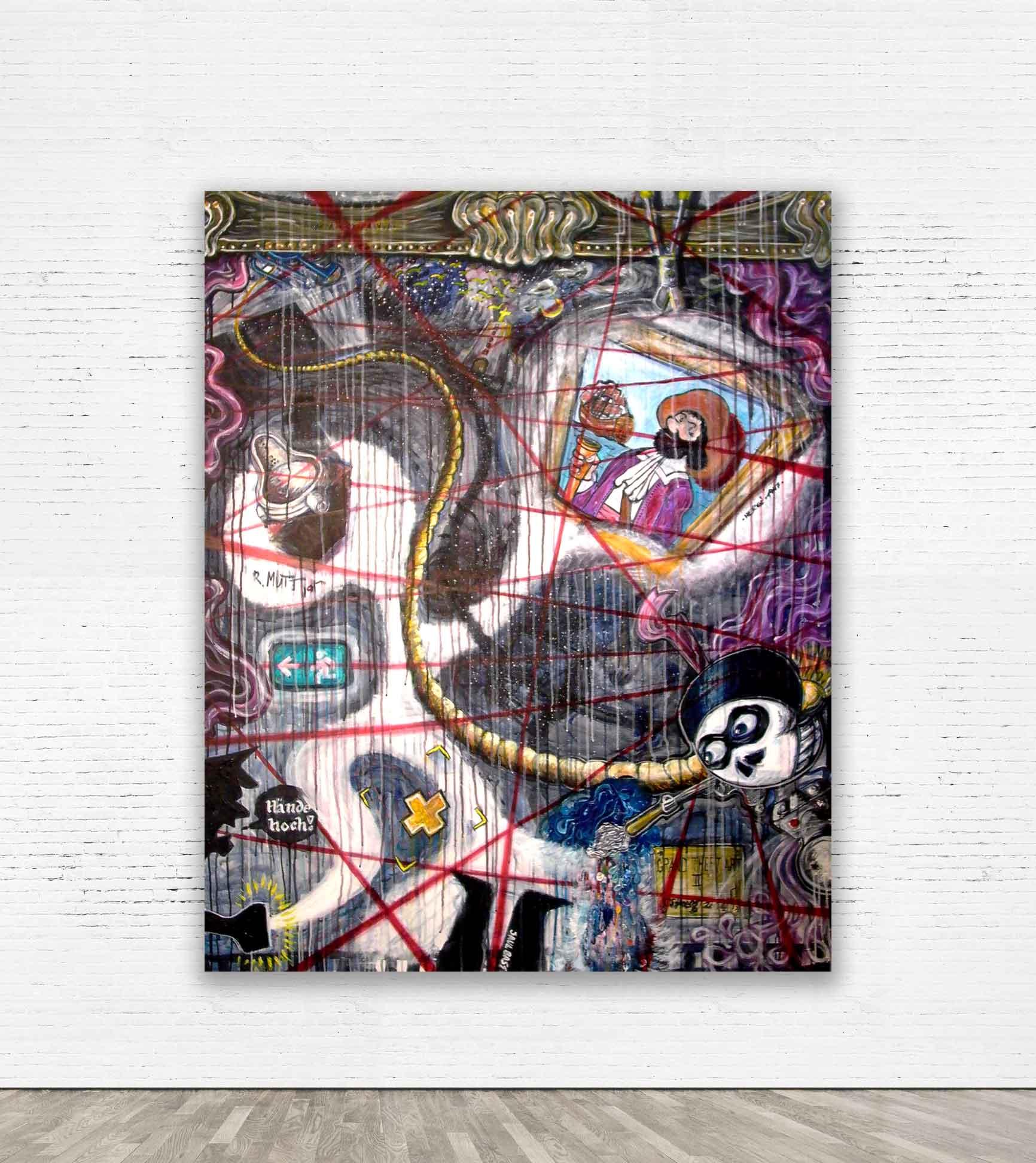 """GRAND THEFT ART II""  2009 Acrylic on canvas 120 x 160 cm   SOLD"