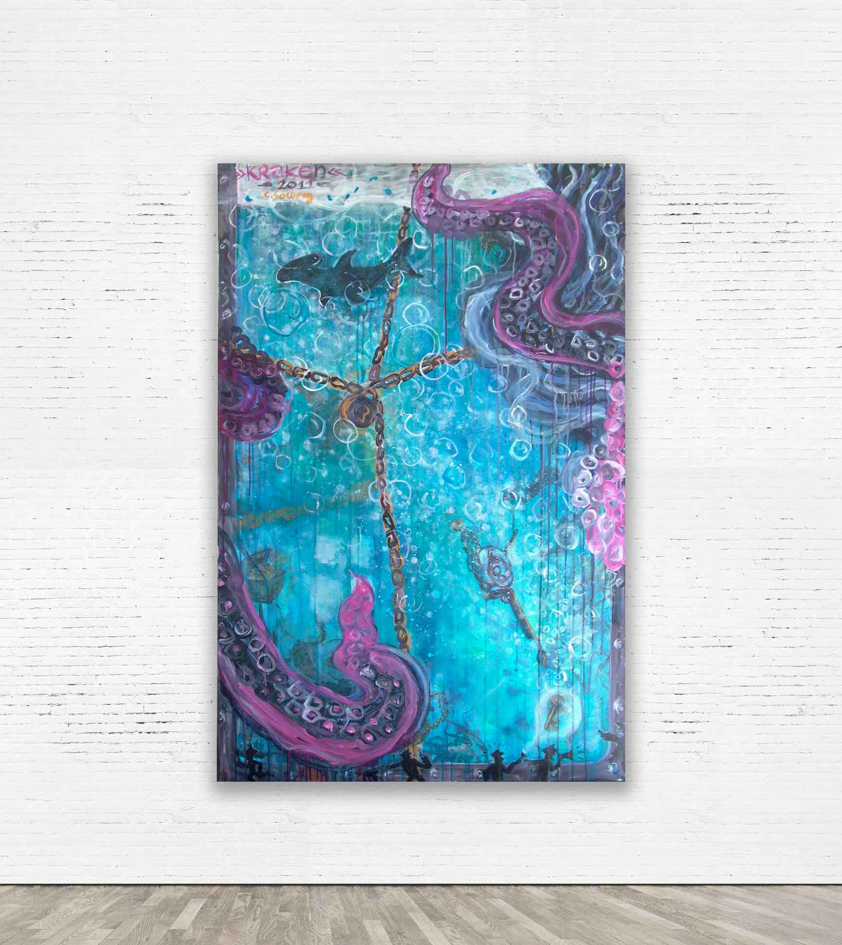 """KRAKEN""  2011 Acrylic on canvas 100 x 150 cm Private collection.   SOLD"