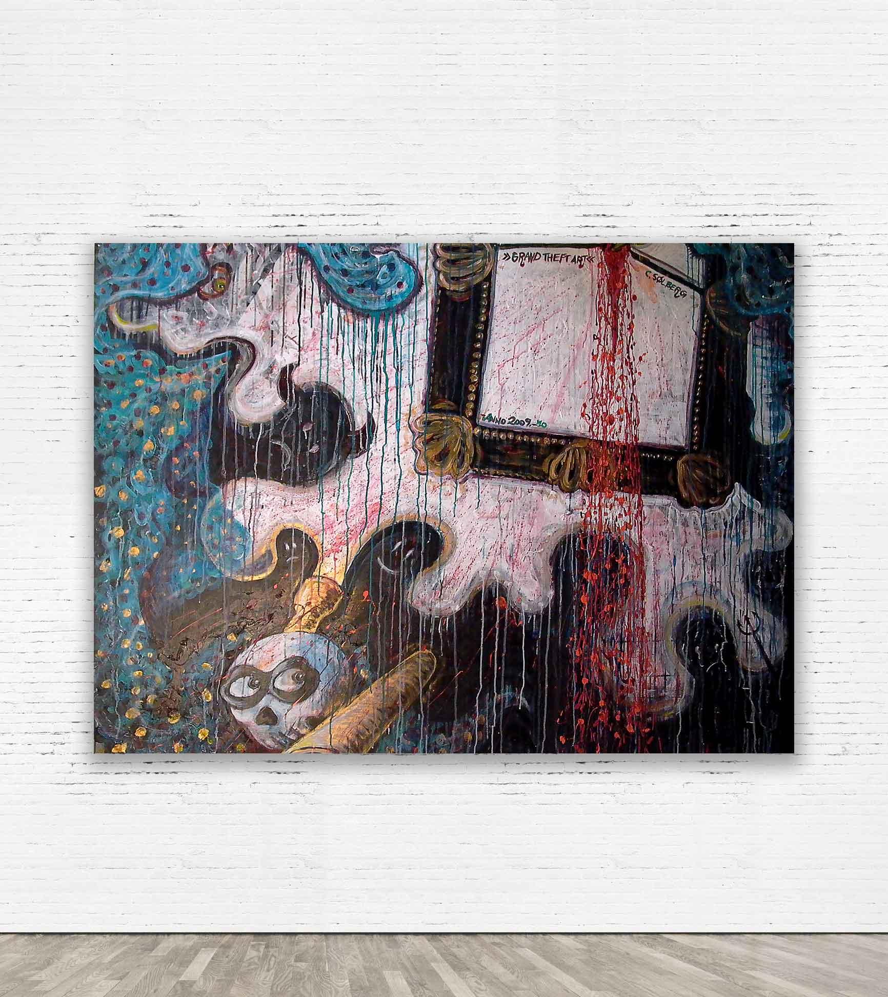"""GRAND THEFT ART""  2009. 160 x 120 cm. Acrylic on plywood"