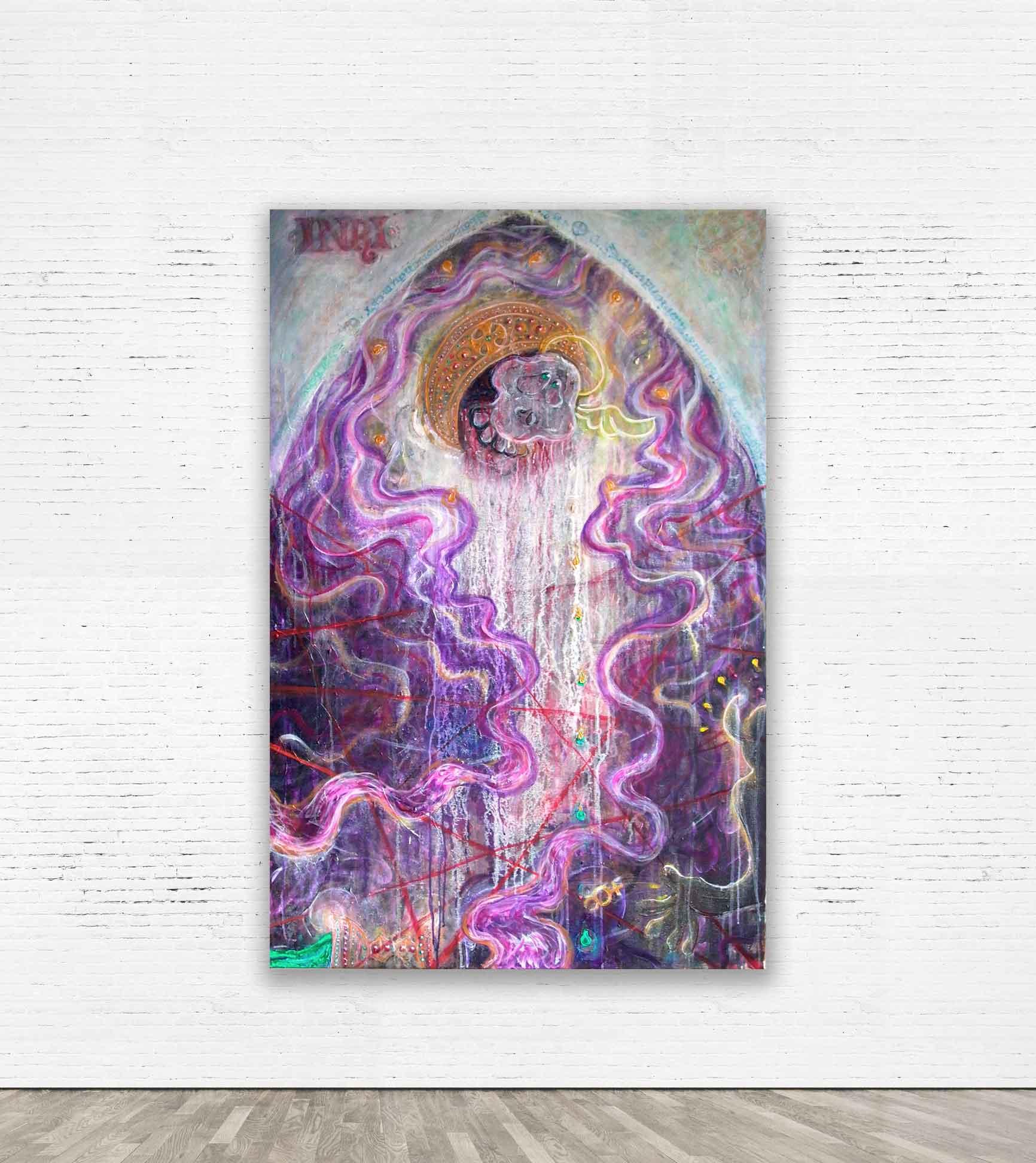 """INRI""  2010 Acrylic on canvas 100 x 150 cm."