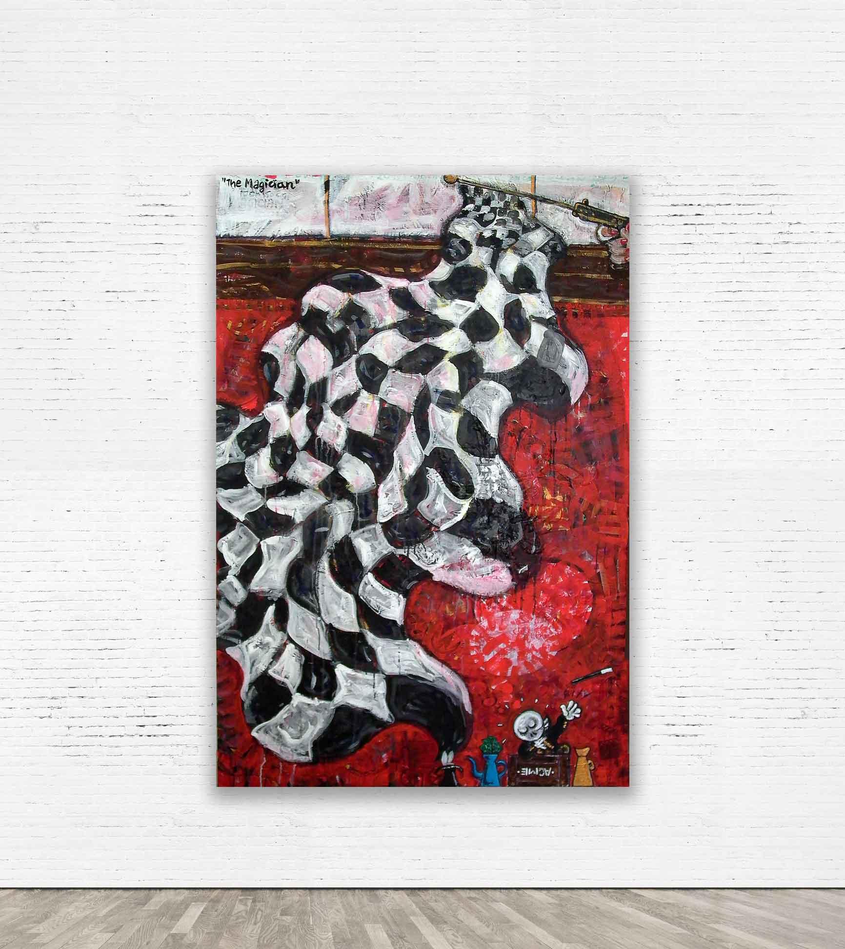 """""""The Magician""""  Acrylic on canvas 100 x 150 cm 2012."""