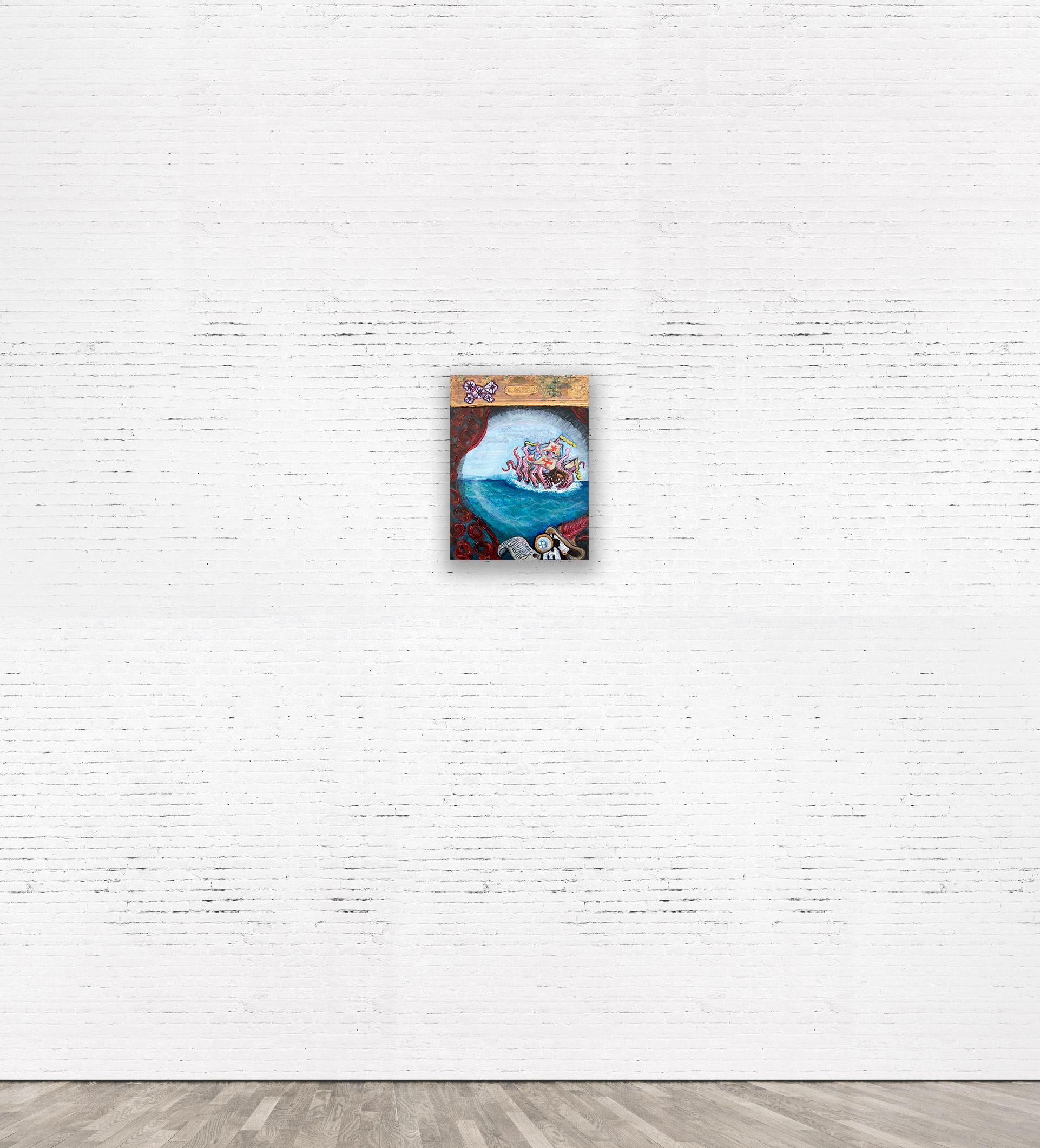"""""""KRAKEN II""""  2014 Acrylic on canvas 30 x 40 cm."""