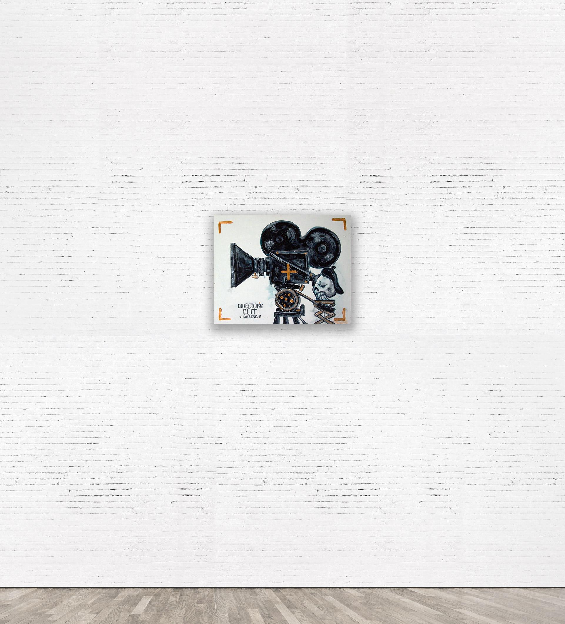 """DIRECTORS CUT""  2011 Acrylic on canvas 50 x 40 cm   SOLD."