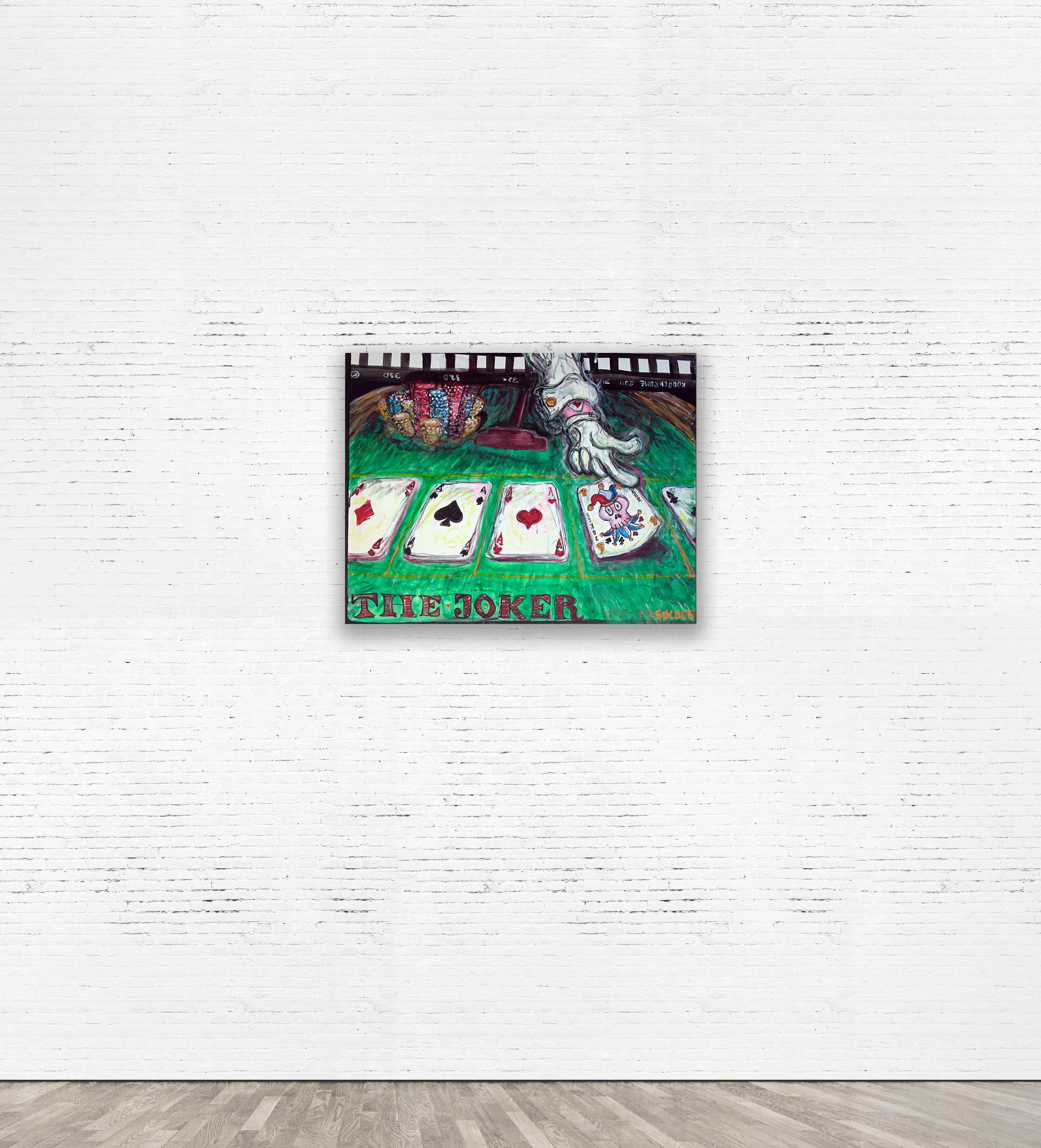 """The Joker""  2013 80 x 60 cm Acrylic on canvas.   SOLD."