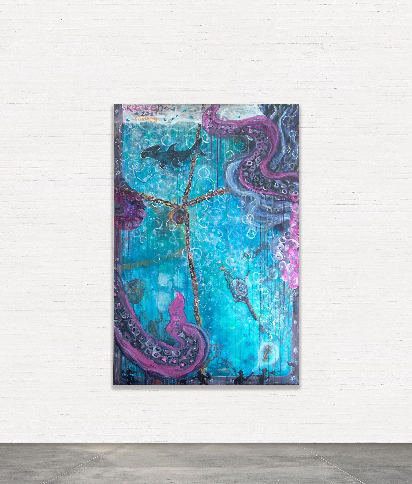 KRAKEN  Akryl på lærred 100x150 cm   SOLGT