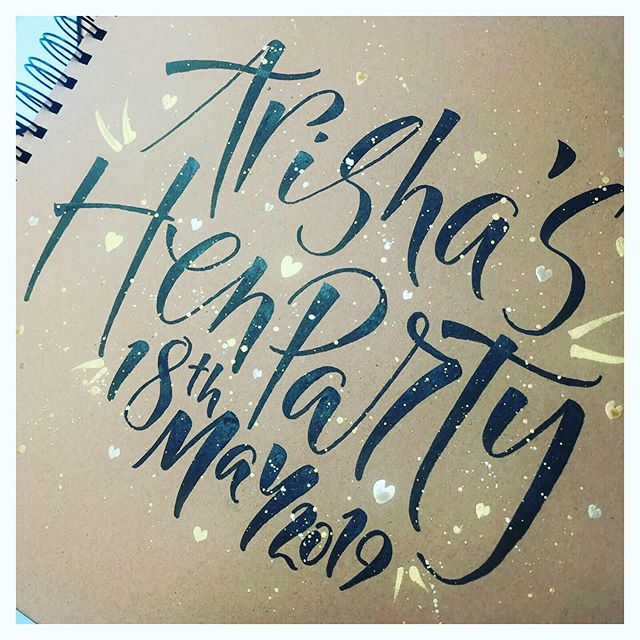 This weekend we hosted a Hen Party and it was loads of fun! If you think you and your party of hen's might enjoy a immersive and enjoyable calligraphy workshop, why not get in touch? You'll get the chance to learn a new skill whilst keeping things fun and relaxing. We make sure everyone can get involved, from the bestie to the mother-in-law. At the end of the party, the bride will get a lovely personalised album to take home with photos and calligraphy pieces from all her hens as a keepsake to remember her special day!  We can tailor the arrangements to fit around whatever you have planned for the rest of the day, and cater it accordingly, so you can make your Calligraphy Hen Party anything from a boozy brunch to an afternoon tea. If you have any questions, send us a message!