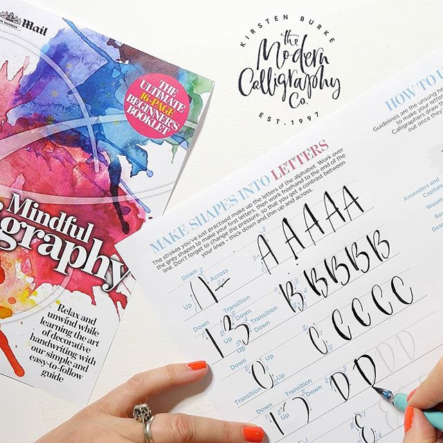 A quick reminder for all calligraphy fans, grab your FREE copy of our 16 page guide to Modern Calligraphy, written by yours truly, tomorrow in the Mail on Sunday.  This fab guide sets you up with all the basics, from brush strokes, the alphabet, greetings and more. Learn to dance your calligraphy across the page following our templates, with exercises to help you gain pen or brush control. We are sure you will love it as much as we do! . . . . . #moderncalligraphyco #mailonsunday #dailymail #freeguide #moderncalligraphy#calligraphylove #lovelettering #calligraphycommunity #modernscript#moderncalligrapher #metime #calligraphydaily #calligraphynews #letteringpractice#calligraphyuk #penandink #alittlebeautyeveryday #calledtobecreative#seekinspirecreate #abeautifulmess #bespokecalligraphy #myhandsmaking