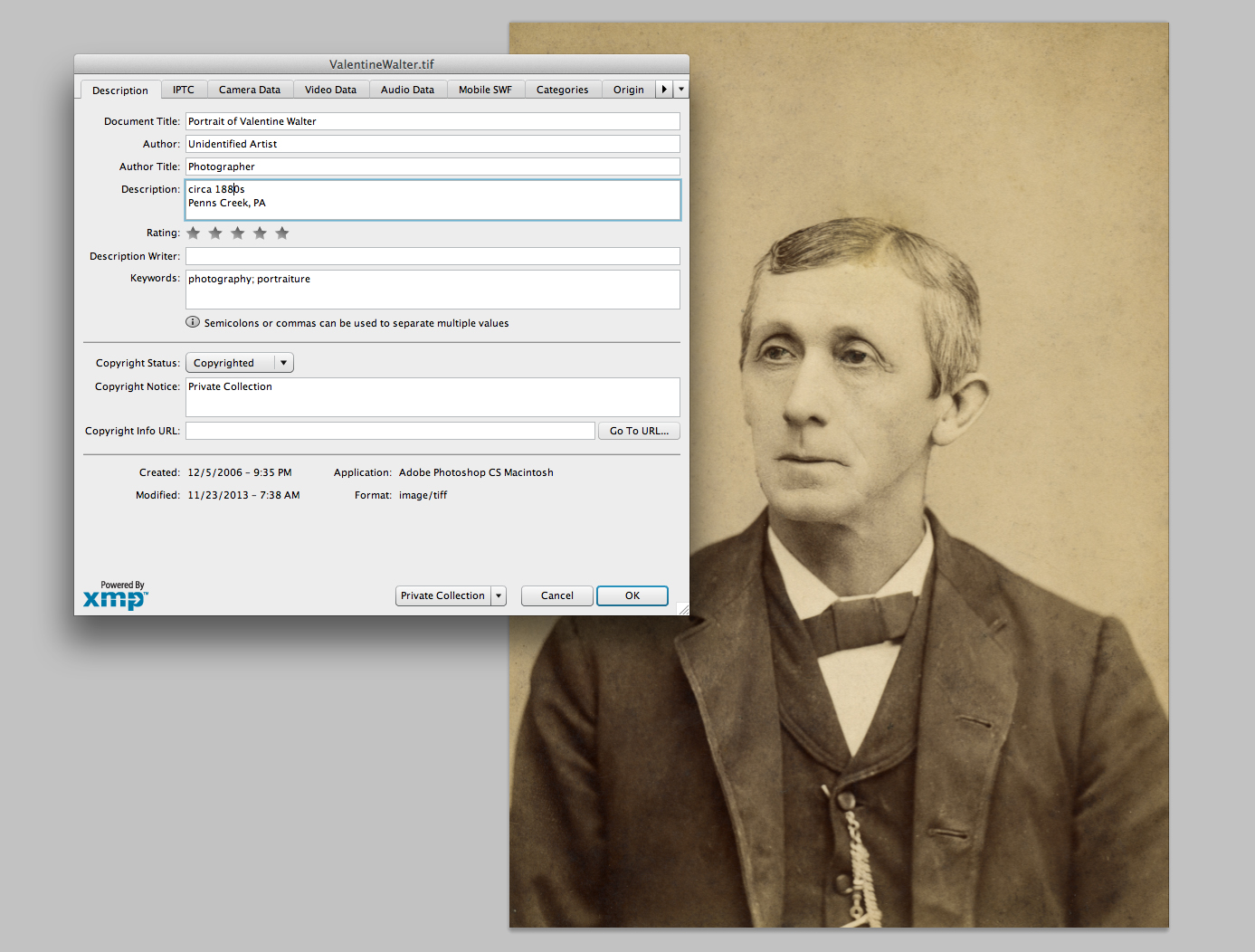 Digital Archiving (with embedded metadata)