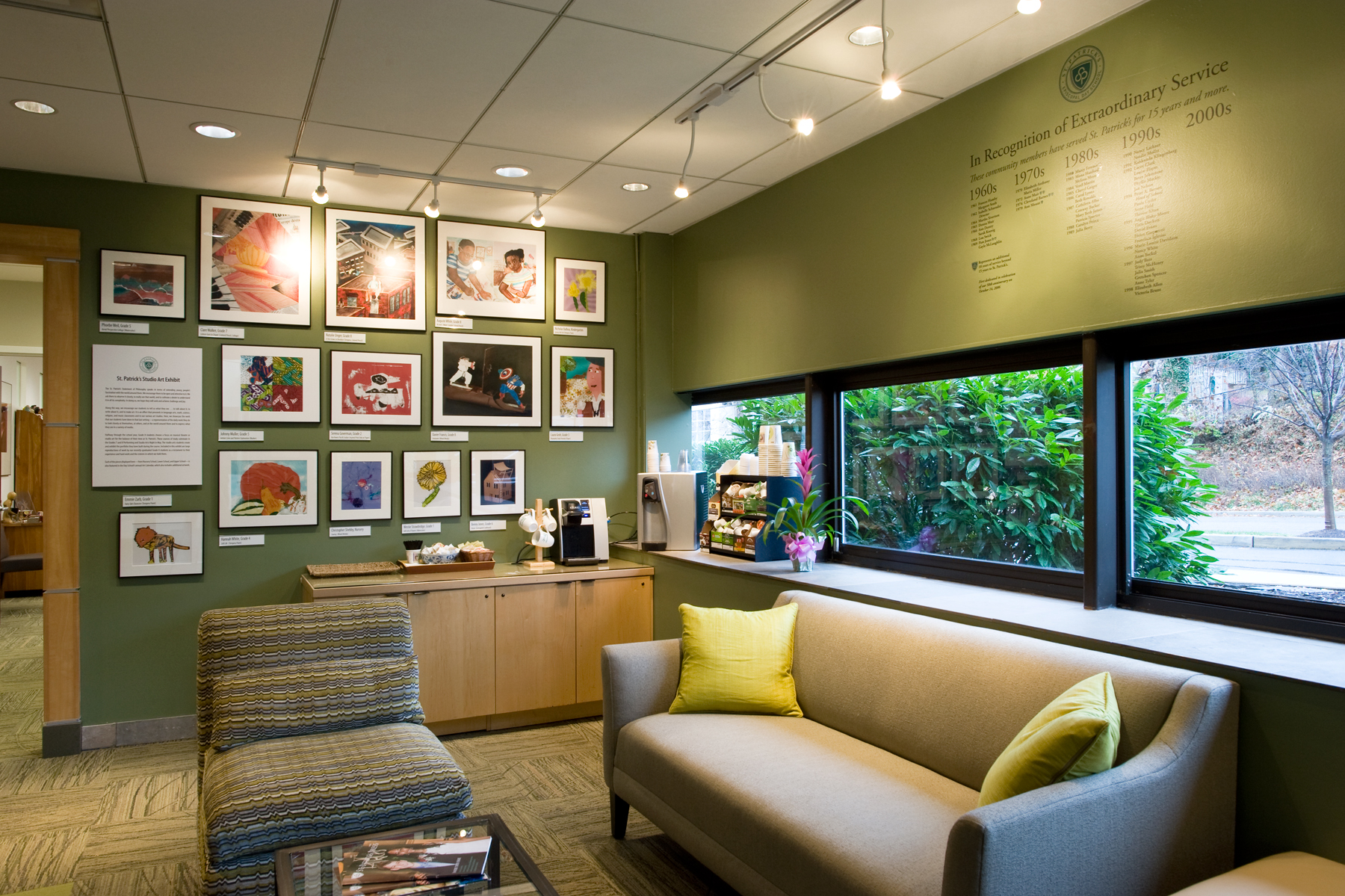 Relocation of St. Patrick's Student Art Exhibit with Faculty Recognition Wall
