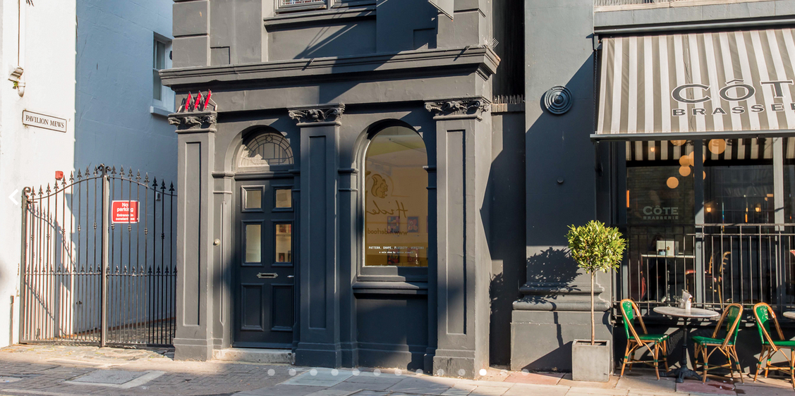 We are right in the centre of town next door to Cote Brasserie, opposite the Dome entrance. Our Address is 114 Church Street Brighton, in the heart of the North Laines area.