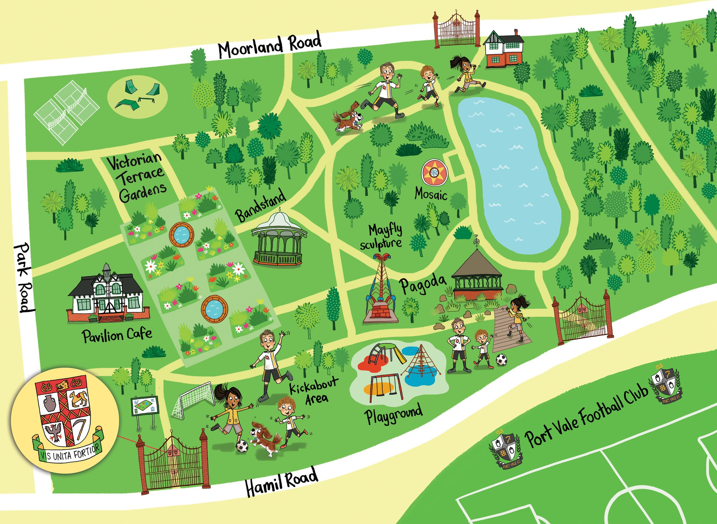 Burslem Park in Stoke - one of the six trail maps to get for free this summer!