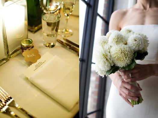 Bowery Hotel Wedding Place setting_Bouquet