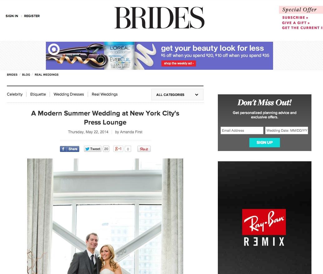 Press Club Wedding on Brides.com