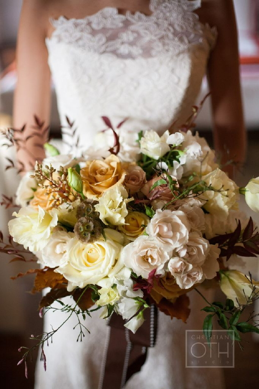 Bridal bouquet by LMD Designs. Photo by Christian Oth.