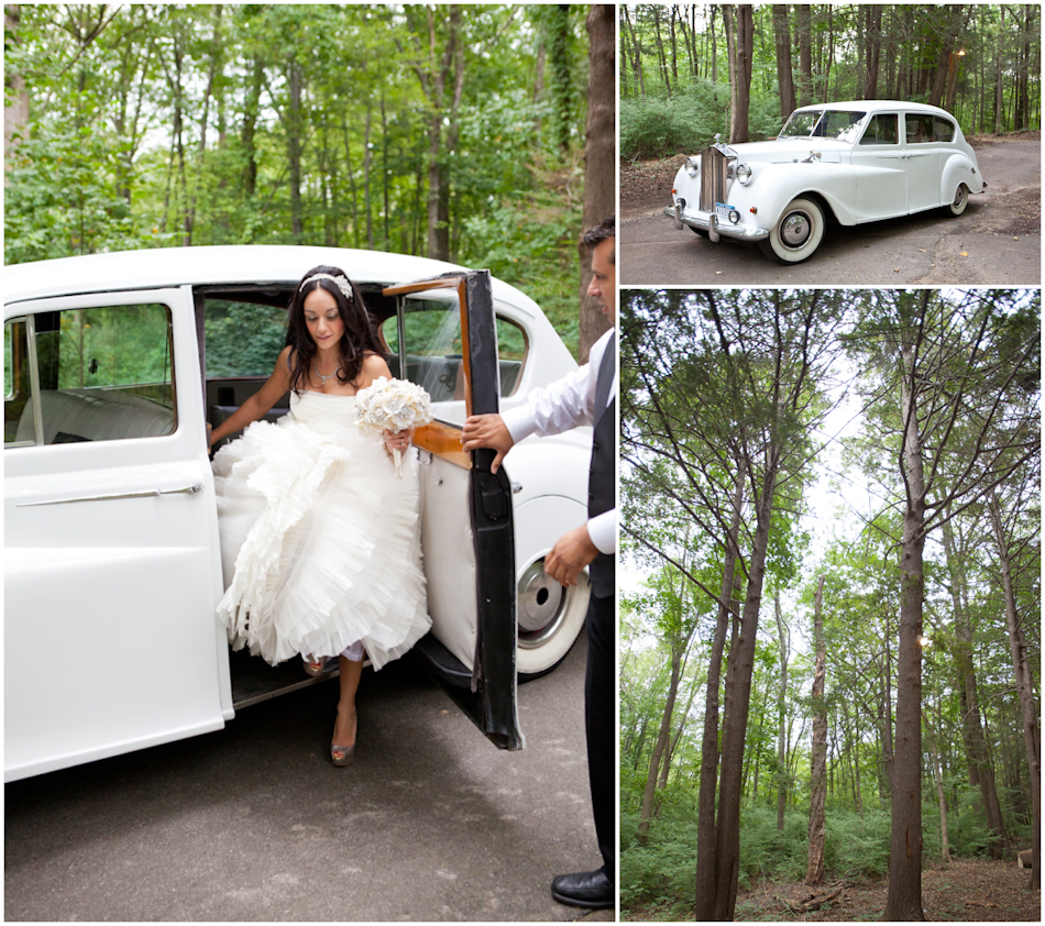 Antonella in her classic car en route to her wedding! Photo by The Thompson Group