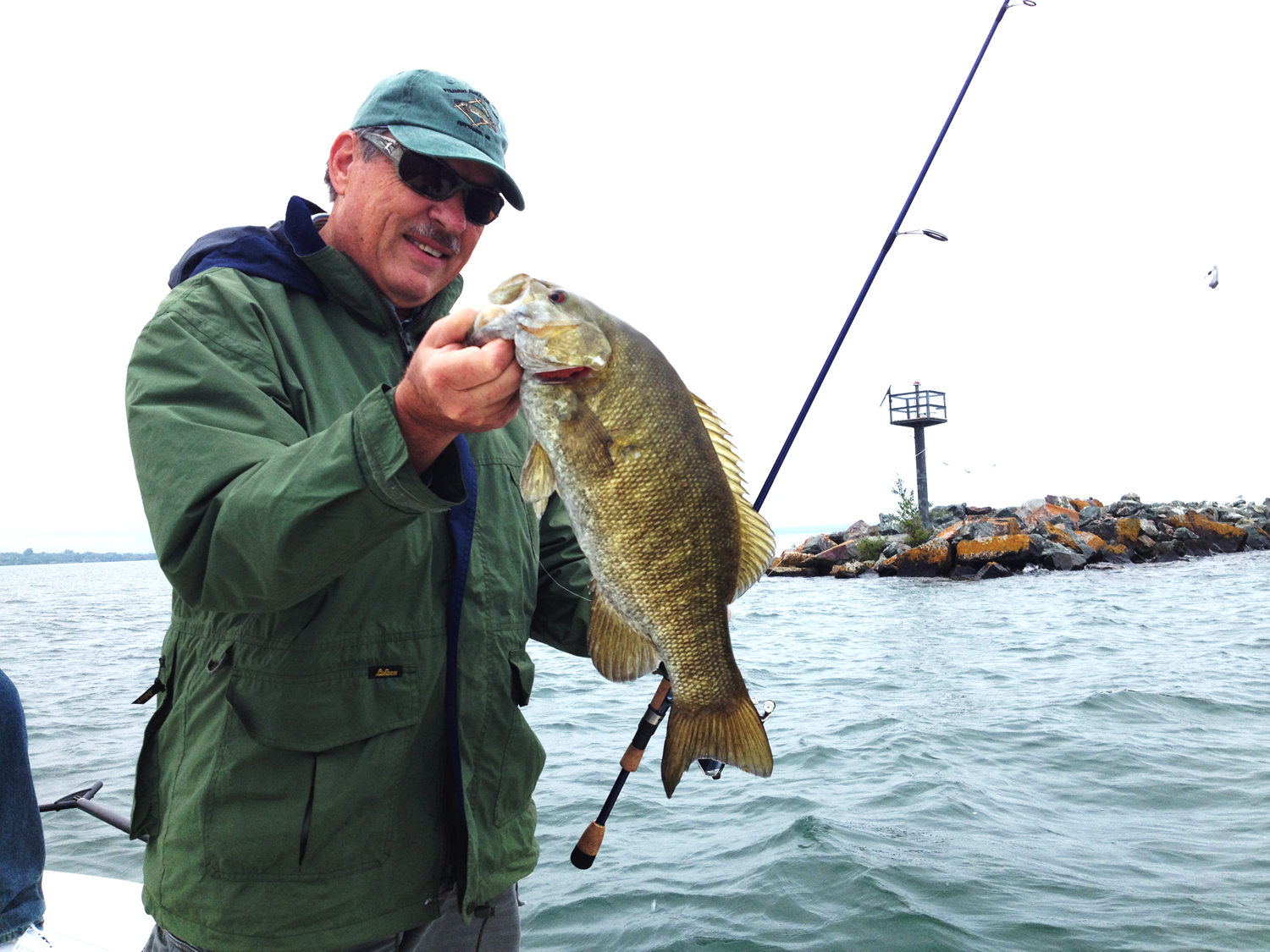Wade Bourne of Clarksville, Tennessee, host of Wired2fish Radio and co-host of Ducks Unlimited Television had a great time on the waters of Chequamegon Bay.