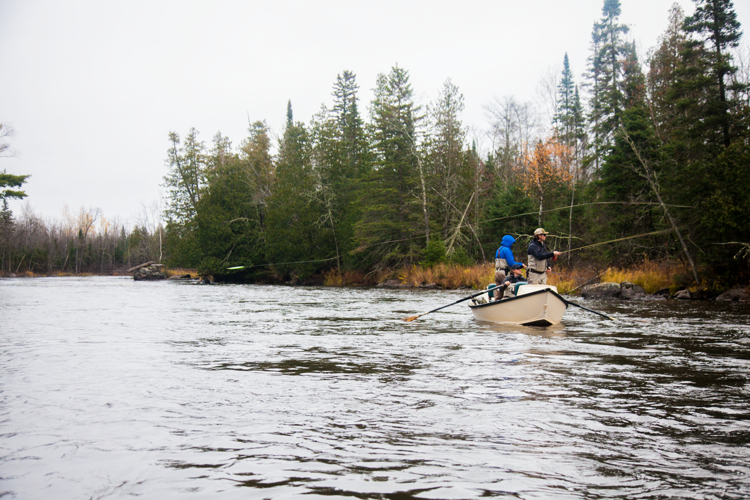 A drift boat trip down a local musky river is a great way to spend a crisp October day.