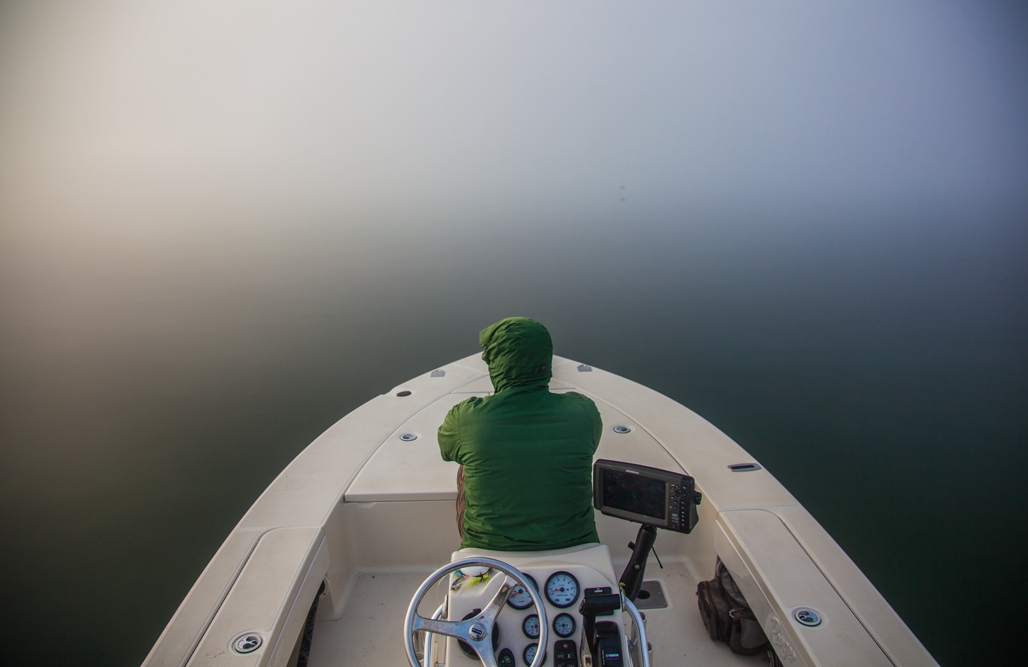 The fog is great. Nobody can see where you're fishing! ;)